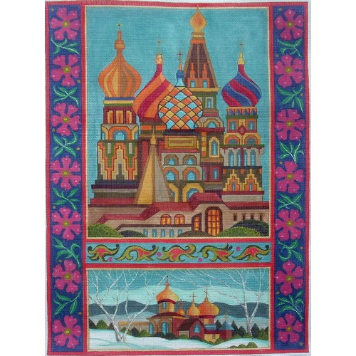 click here to view larger image of Russian Cathedrals (hand painted canvases)