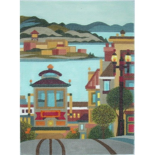 click here to view larger image of Hyde Street Bay View (hand painted canvases)