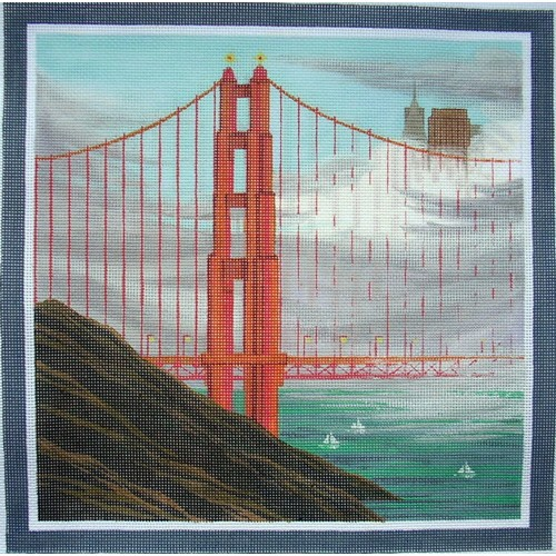 click here to view larger image of Foggy Bridge (hand painted canvases)
