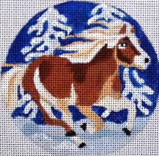 click here to view larger image of Horse Ornament (hand painted canvases)