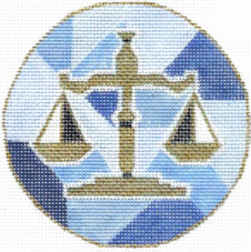 click here to view larger image of Law Ornament (hand painted canvases)