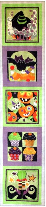 click here to view larger image of Halloween Bellpull (hand painted canvases)