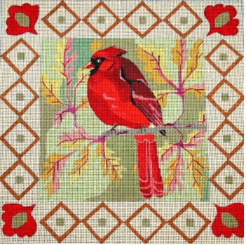 click here to view larger image of Cardinal (hand painted canvases)