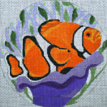click here to view larger image of Clown Fish Ornament (hand painted canvases)