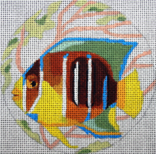 click here to view larger image of Angel Fish Ornament (hand painted canvases)