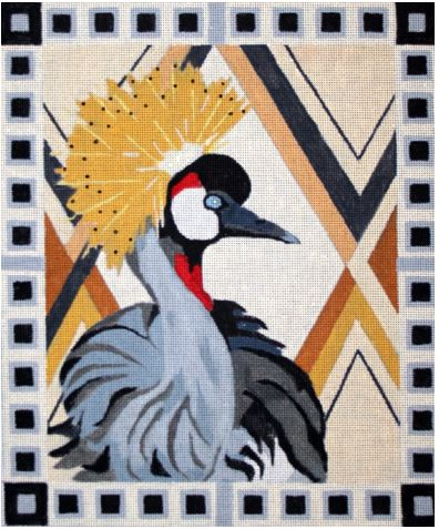 click here to view larger image of African Crane (hand painted canvases)