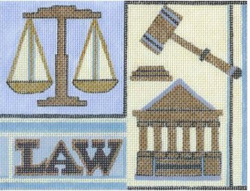 click here to view larger image of Law (hand painted canvases)