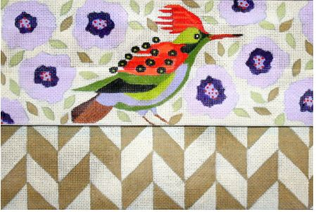 click here to view larger image of Folded Bird Clutch (hand painted canvases)