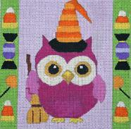 click here to view larger image of Halloween Owl (hand painted canvases)