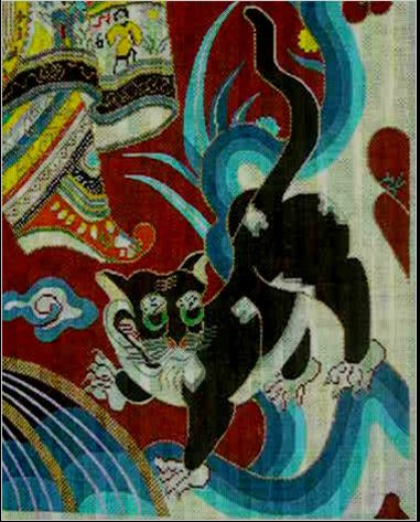 click here to view larger image of Peking Cat (hand painted canvases)