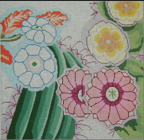 click here to view larger image of Cactus Pillow (hand painted canvases)