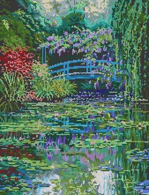 click here to view larger image of Monet's Bridge (hand painted canvases)