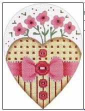 click here to view larger image of Button Heart (hand painted canvases)