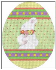 click here to view larger image of Bunny Egg (hand painted canvases)