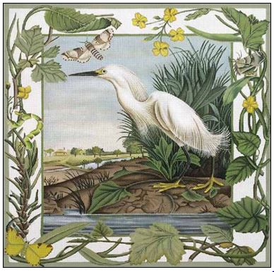 click here to view larger image of White Egret (hand painted canvases)