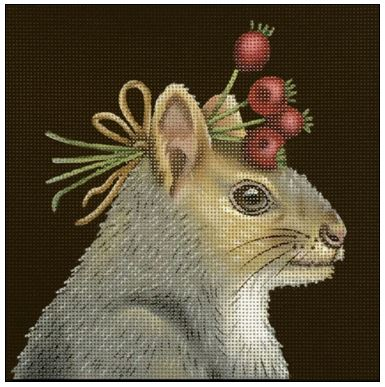 click here to view larger image of Hawthorne Squirrel (hand painted canvases)