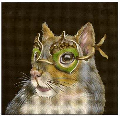 click here to view larger image of Acorn Masked Squirrel (hand painted canvases)