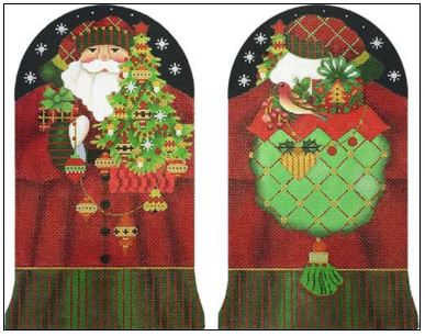 click here to view larger image of Red Bird Santa Stand Up (hand painted canvases)