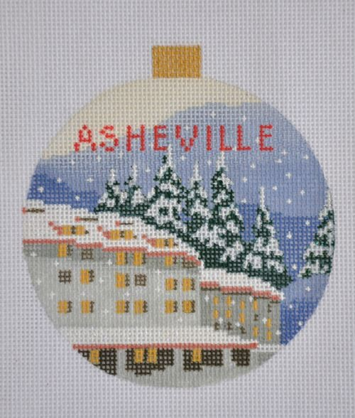 click here to view larger image of Asheville Ornament (hand painted canvases)