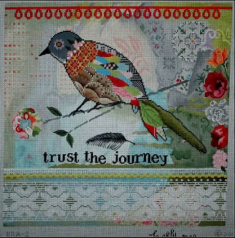 click here to view larger image of Trust The Journey (hand painted canvases)