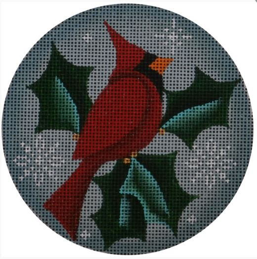 click here to view larger image of Cardinal Ornament (hand painted canvases)