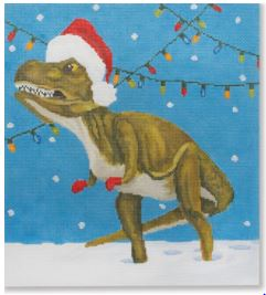 click here to view larger image of Mr Holiday Dino (hand painted canvases)