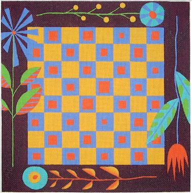 click here to view larger image of Leaves Game Board - 13ct (hand painted canvases)