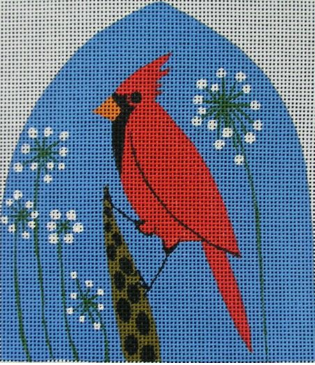 click here to view larger image of Perching Cardinal (hand painted canvases)