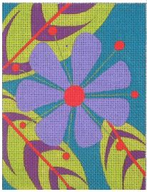 click here to view larger image of Zinnia Scissor Needle Case (hand painted canvases)