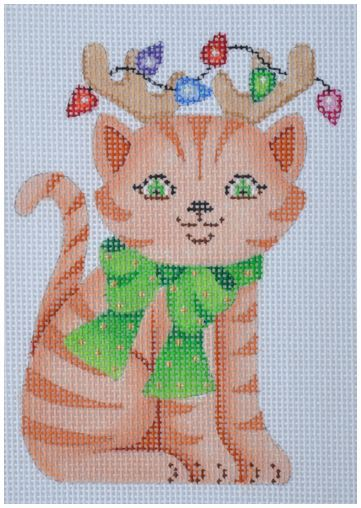 click here to view larger image of Cat with Reindeer Antlers (hand painted canvases)