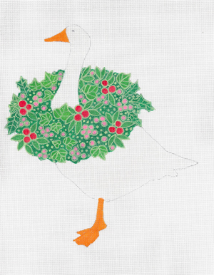 click here to view larger image of Christmas Goose, The (hand painted canvases)