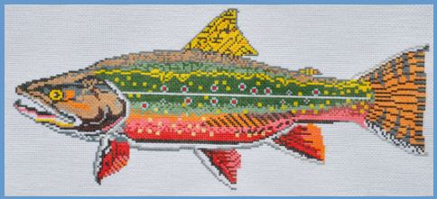 click here to view larger image of Trout (hand painted canvases)