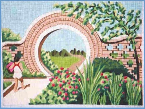 click here to view larger image of China Moon Gate (hand painted canvases)