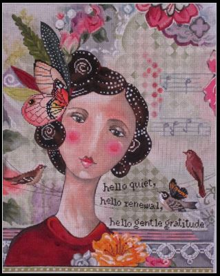 click here to view larger image of Hello Gentle Gratitude (hand painted canvases)