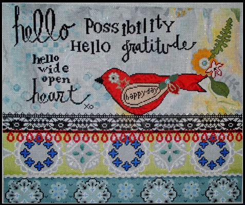 click here to view larger image of Hello Possibility (hand painted canvases)