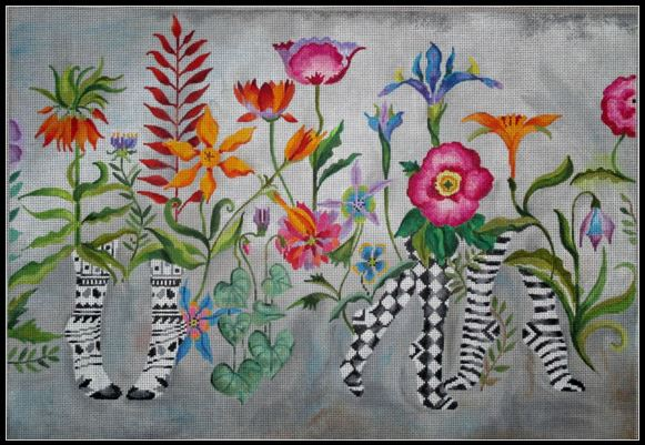click here to view larger image of Dance Among The Flowers (hand painted canvases)