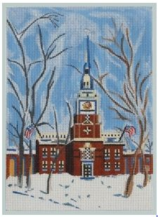 click here to view larger image of Independence Hall - Philidelphia (hand painted canvases)