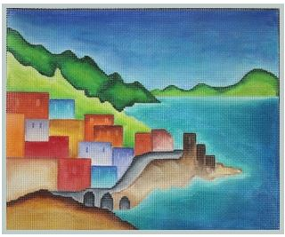 click here to view larger image of Amalfi Coast (hand painted canvases)