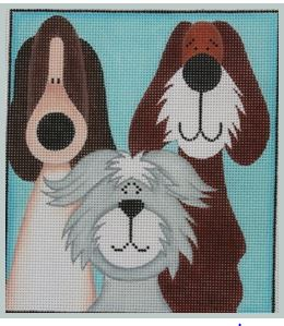 click here to view larger image of 3 Tall Pups (hand painted canvases)