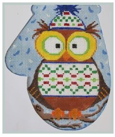 click here to view larger image of Owl in a Sweater MIT (hand painted canvases)