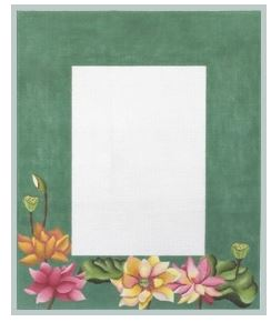 click here to view larger image of Lotus Garden Frame (hand painted canvases)