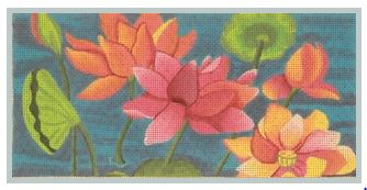 click here to view larger image of Lotus Insert II (hand painted canvases)