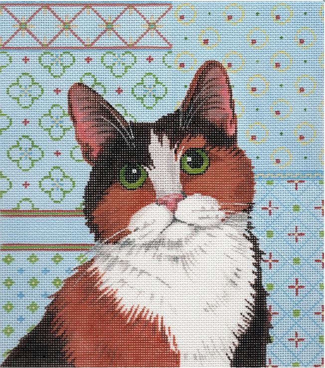 click here to view larger image of Calico Cat (hand painted canvases)