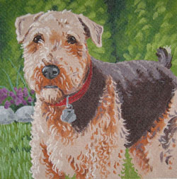 click here to view larger image of Airedale Terrier (hand painted canvases)