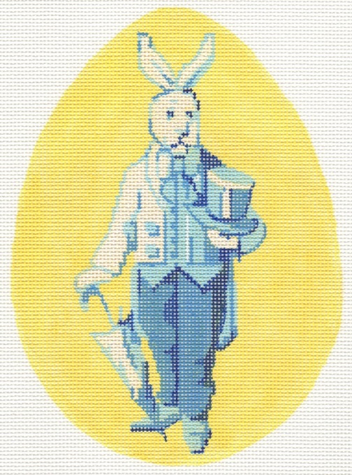click here to view larger image of Bunny Family - Gentleman (hand painted canvases)
