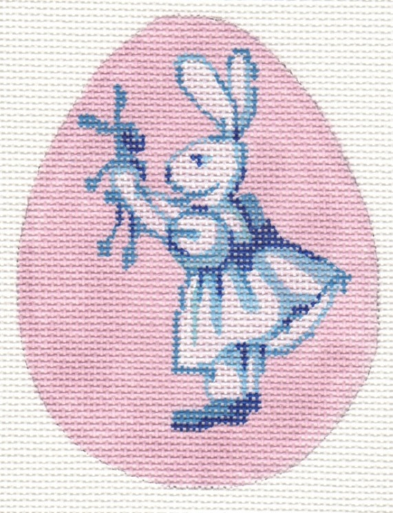 click here to view larger image of Bunny Family - Baby Girl (hand painted canvases)