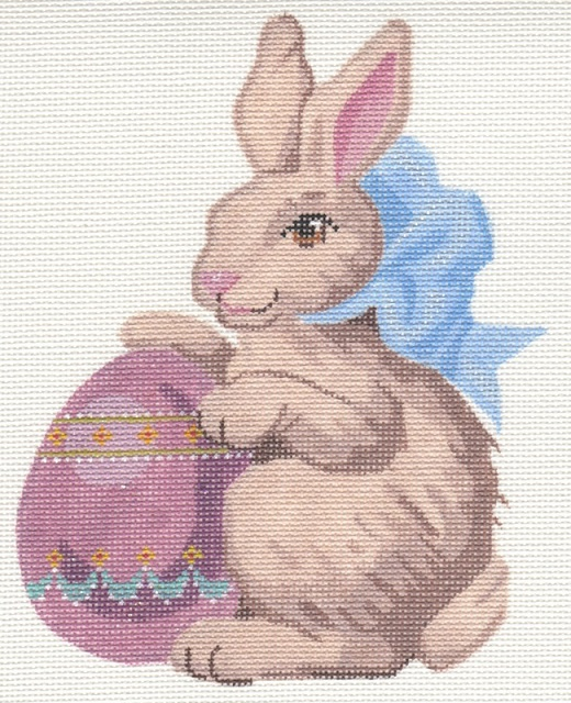 click here to view larger image of Bunny With Egg On Left (hand painted canvases)