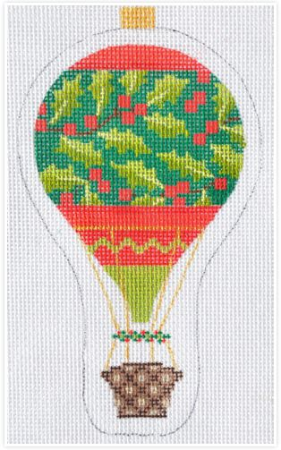 click here to view larger image of Holiday Balloon Holly (hand painted canvases)