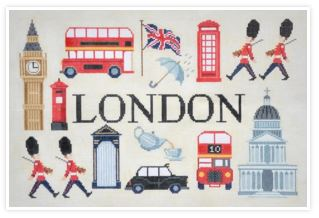 click here to view larger image of Sights and Scenes of London (hand painted canvases)