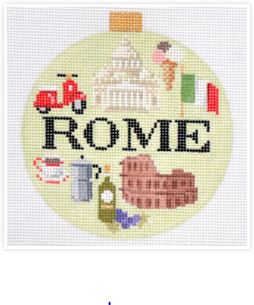 click here to view larger image of Travel Round - Rome (hand painted canvases)